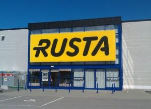 Rusta myymälä Ruotsi
