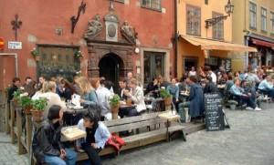 Café Kaffekoppen kahvila Tukholman vanhakaupunki