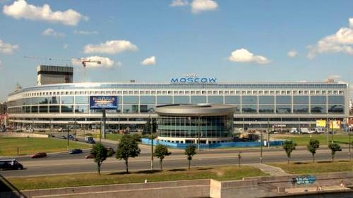 Pietarin Moskva hotelli-kauppakeskus Venäjä.