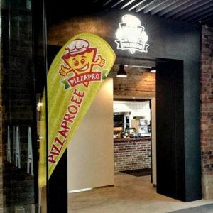 Pizzapro pizzeria-ravintola Arsenal Keskus Tallinna.
