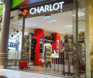 Charlot toimisto-ja koulutarvikemyymälä Ülemiste Kaubanduskeskus Tallinna.
