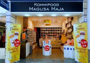 Magusa Maja Kommipood karkkikauppa Viru Keskus Tallinna.