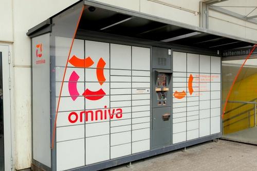Omniva pakettiautomaatti Laikmaa tn. Viru Keskus Tallinna.