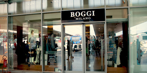 Boggi Milano store at Santa Lucia train station in Venice, Italy.