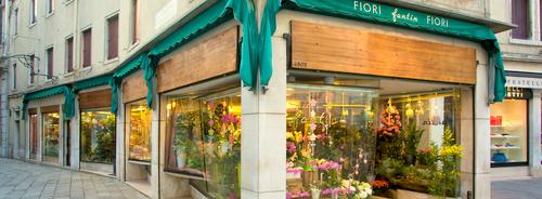 Fioreria Fantin Fiori flower shop in Venice, Italy.