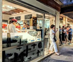Gelatoteca Suso ice cream shop in Venice, Italy.