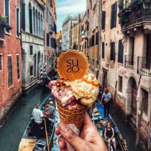 Gelatoteca Suso ice cream, available in Venice, Italy.