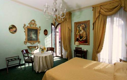 Hotel Marconi guest room in Venice, Italy.