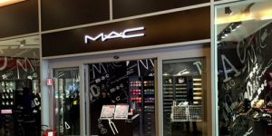 M.A.C Cosmetics store at Santa Lucia Venezia train station in Venice, Italy.