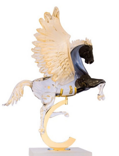 Markus Art Gallery's Winged Horse Pegasus artwork, available in Venice, Italy.