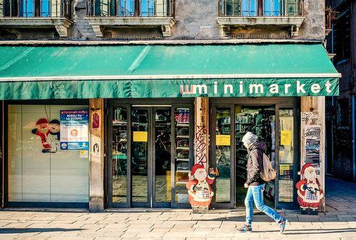 Minimarket Campo Santa Margherita in Venice, Italy.