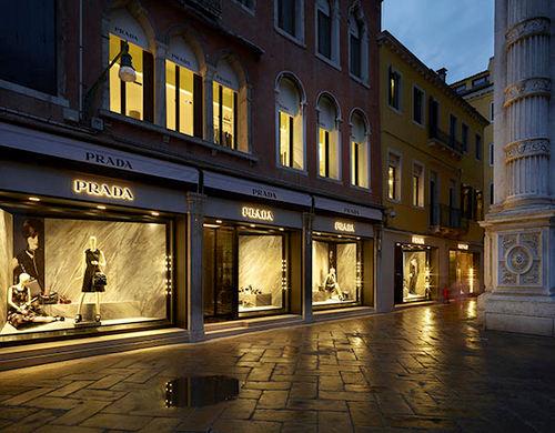 Prada store in Venice, Italy.