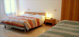 Alloggi Barbaria Hotel guest room in Venice, Italy.