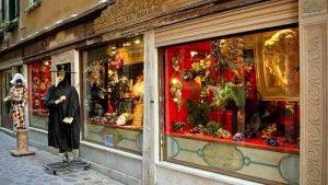 Ca' Macana Venetian masks shop in Venice, Italy.