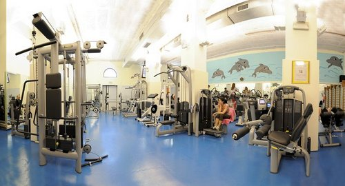 Club Delfino fitness center in Venice, Italy.