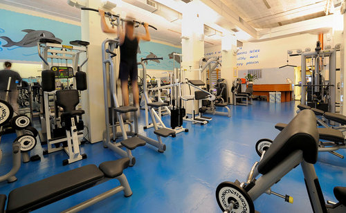Club Delfino gym in Venice, Italy.