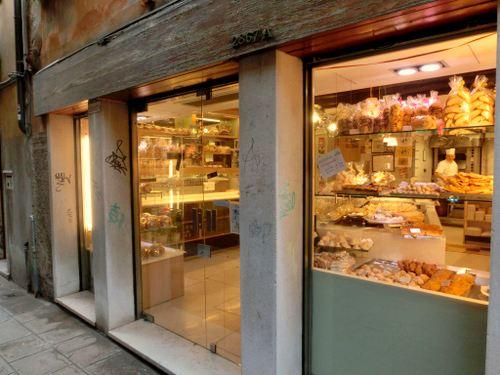Dal Nono Colussi pastry shop in Venice, Italy.