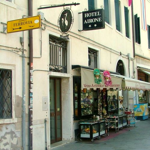 Hotel Airone in Venice, Italy.