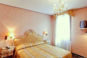 Hotel Basilea's guest room in Venice, Italy.