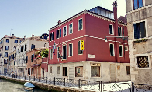 Three star Hotel Basilea in Venice, Italy.