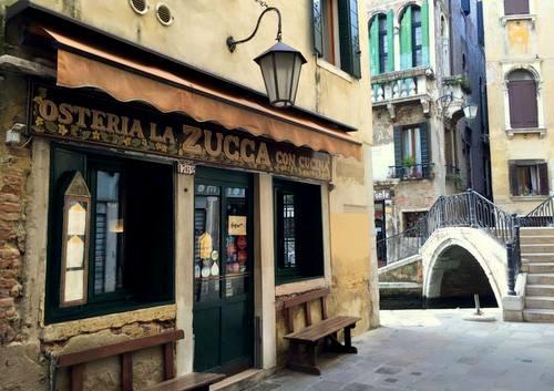 Osteria La Zucca restaurant in Venice, Italy.