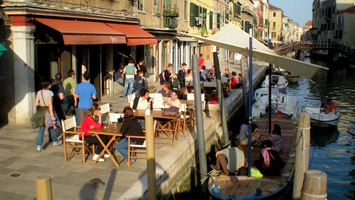 Al Timon steakhouse restaurant in Venice, Italy.