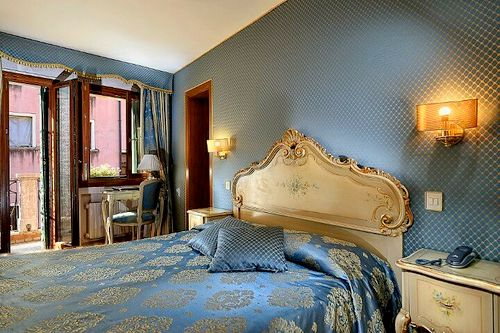 Royal San Marco Hotel guest room in Venice, Italy.