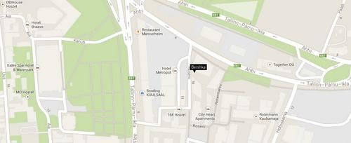 Bershka Tallinna kartta