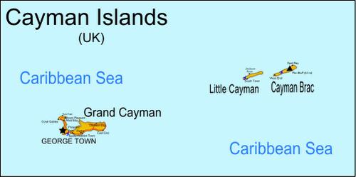 Caymansaaret kartta