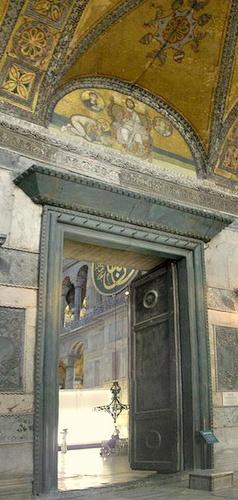 Keisarillinen portti Hagia Sofia Istanbul