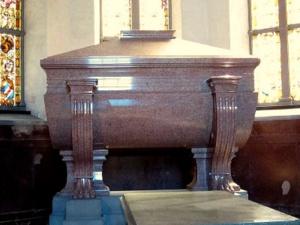 Kuningas Kaarle XIV Juhana sarkofagi Riddarholmenin kirkko Tukholma