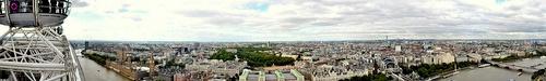 London Eye panorama Lontoo