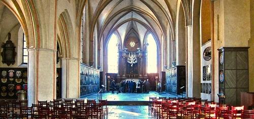 Riddarholmenin kirkko keskilaiva Tukholma