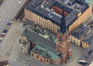 Riddarholmskyrkan ilmakuva Tukholma