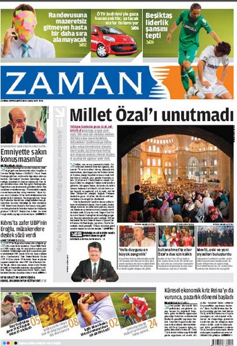 Zaman sanomalehti Istanbul