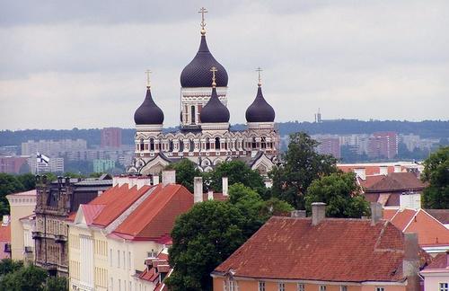 Aleksanteri Nevskin katedraali vanhakaupunki Tallinna