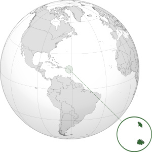 Antigua ja Barbuda kartta