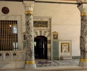 Audienssikamarin sisäänkäynti Topkapin palatsi Istanbul
