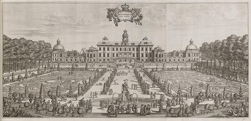 Drottningholmin linna 1692 piirros