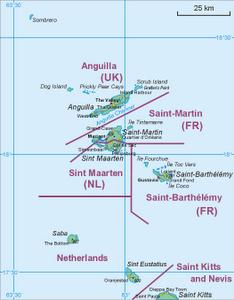 Kartta Anguillasta