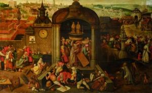 Kristus ajamassa rahanvaihtajia pois temppelistä Kadriorgin taidemuseo Tallinna