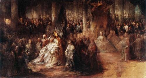 Kustaa III vuoden 1772 kruunajaiset Tukholman Suurkirkossa