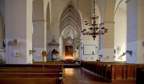 Olevisten kirkon sisätilat Tallinna