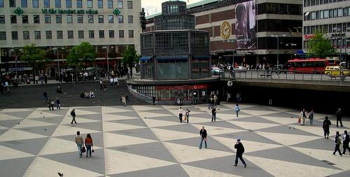 Sergelin torin kolmiokuvioinnit Tukholma