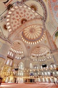 Sininen moskeija sisätilat Istanbul