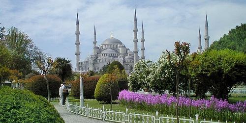 Sulttaani Ahmedin moskeija arkkitehtuuri Istanbul