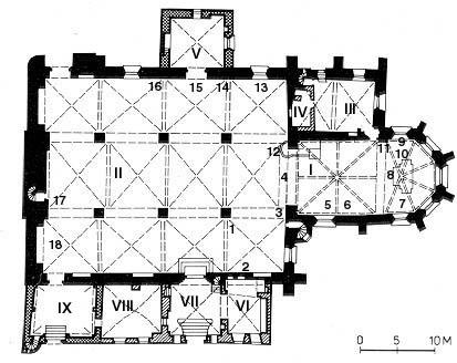 Tallinnan tuomiokirkko pohjapiirros