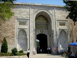 Topkapin palatsin keisarillinen portti Istanbul