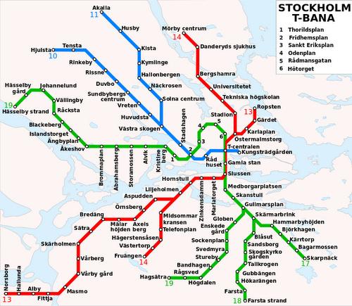 Tukholman maanalainen kartta