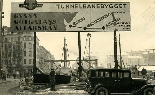 Tunnelbanabygget Tukholman metro